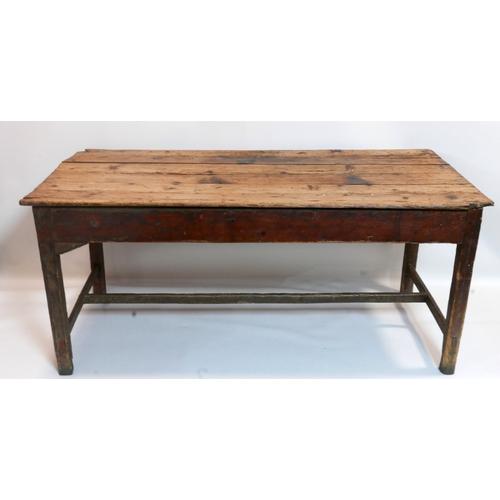 281 - A 19th century oak farmhouse dining table, H.74 W.170 D.82cm...