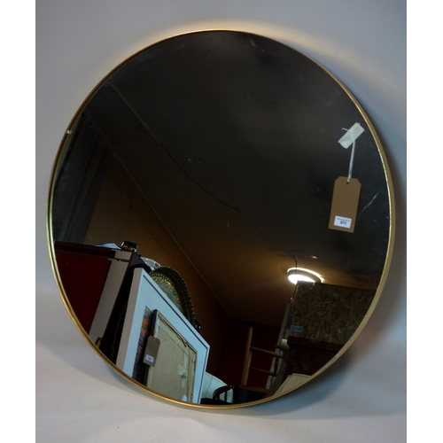 371 - A large contemporary circular wall mirror, Diameter 91cm...