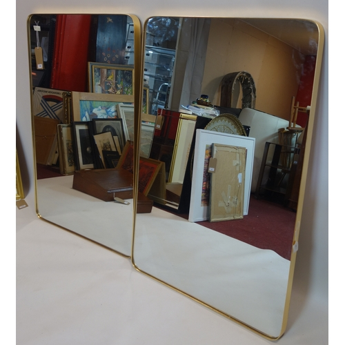 386 - Two contemporary rectangular wall mirrors, 121 x 81cm...