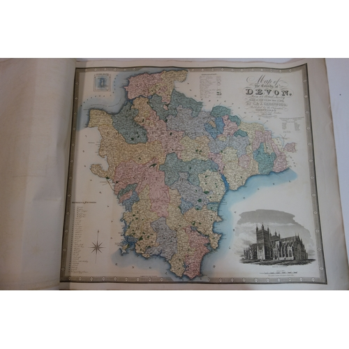 66 - C & J Greenwood, a set of eleven early 19th century maps of British counties, c.1820s, hand-coloured...