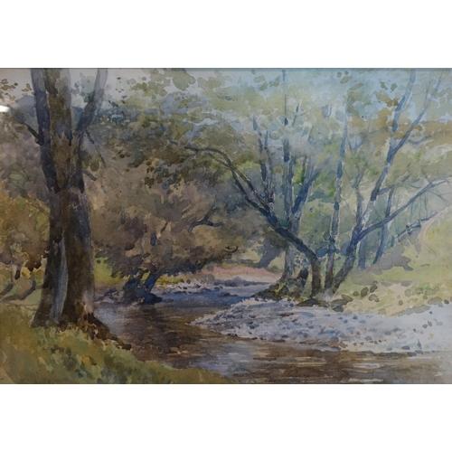 387 - Sybil Austin, country scene, watercolour, unsigned, 25 x 34cm...