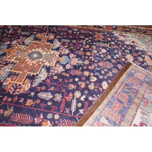 116 - A North West Persian Farahan carpet the central diamond medallion with repeating animal and petal mo...