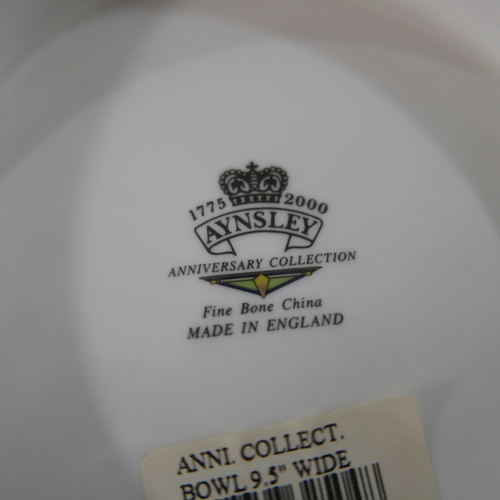 197 - A collection of Aynsley porcelain for the 1775-2000 anniversary collection together with some Ridgwa...