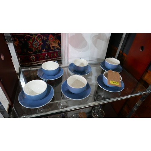 123 - Six Pagnossin Ironstone coffee cups and saucers (12)...