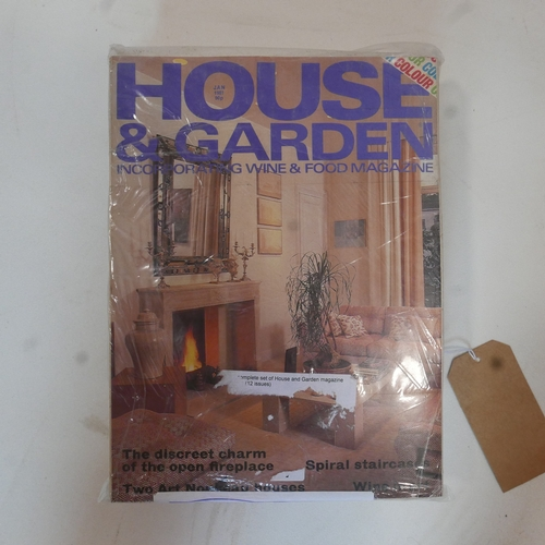 107 - A complete year of 1981 House and Gardens magazines, 12 issues...