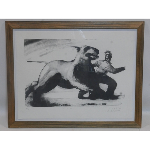 117 - Ray Richardson (British, b.1964), 'Get to Grips', limited edition lithograph, signed and dated '94 i...
