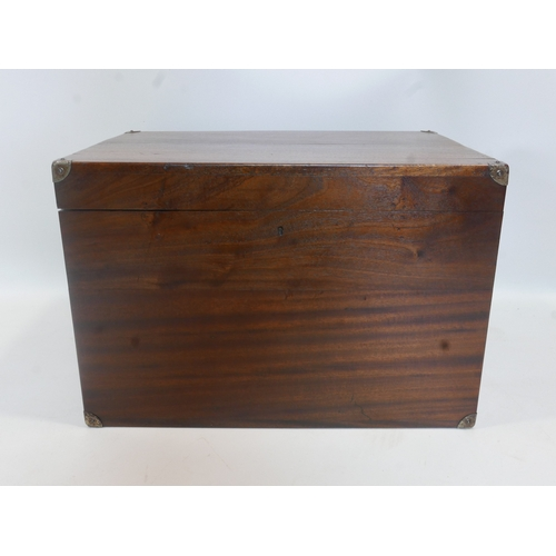 350 - A 19th century camphor wood silver chest, H.42 W.63 D.43cm...