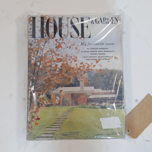 94 - A complete year of 1961 House and Gardens magazines, 12 issues...