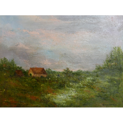 160 - Barbara van Loon (20th century Dutch school), Cottage in a rural landscape, signed B. von Loon, 39 x...
