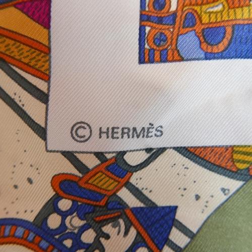 2 - A Hermès A la Gloire de Guillaume silk Scarf, 89 x 88cm...