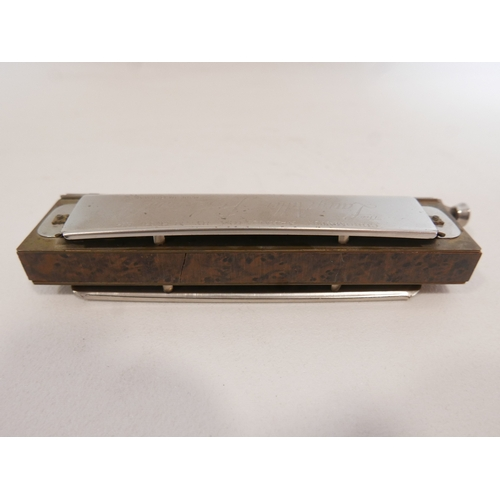 9 - A Vintage Hohner Chromatic Harmonica The Larry Adler Professional 12 in original box...