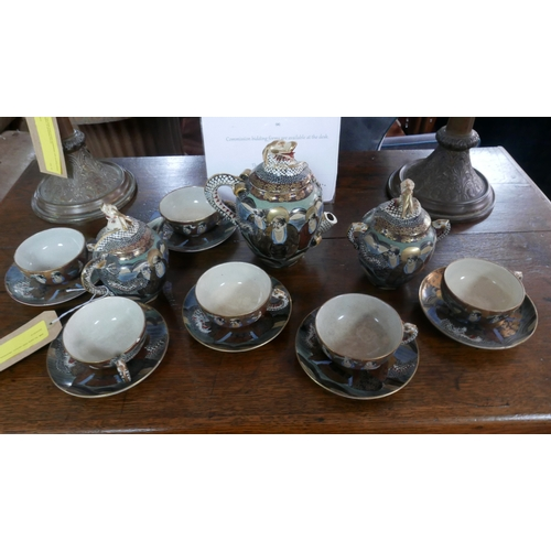 436 - An early 20th century Japanese porcelain tea set...