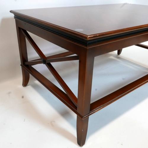 239 - A Regency style mahogany coffee table, H.47 W.100 D.60cm...