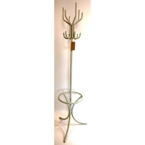 317 - A steel coat stand...