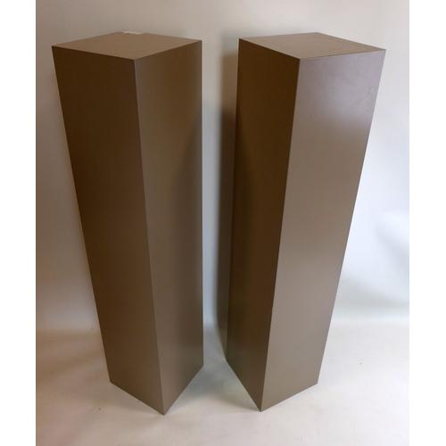 329 - A pair of contemporary pedestals, H.120cm...