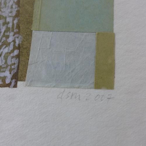 101 - Deborah Schneebeli Morrell (Contemporary), 'Fugitive Pieces', paper collage and gouache, monogrammed...