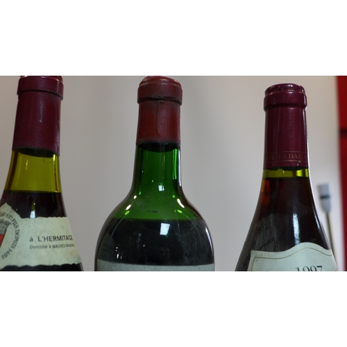 2 - A collection of wine to include two bottles of 1962 Chateau Valrose, three bottles of 1979 Hermitage...