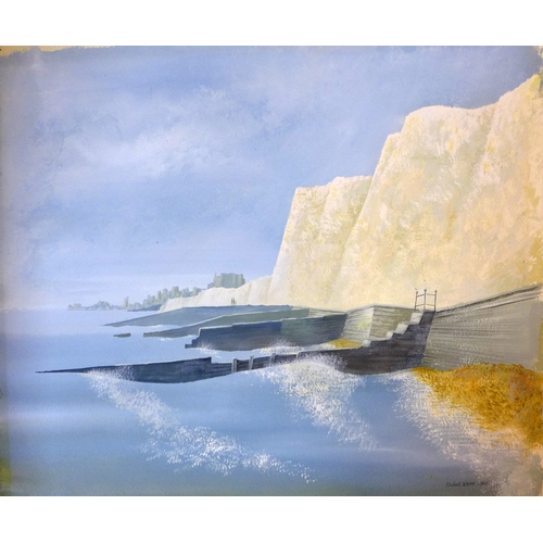 121 - Michael Warne, two gouache paintings, comprising one of a park in winter, signed and dated 1949 lowe...