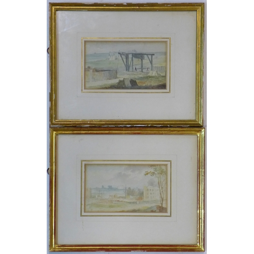 123 - Two 19th century watercolours depicting landscape scenes, framed and glazed, 9 x 15.5cm...