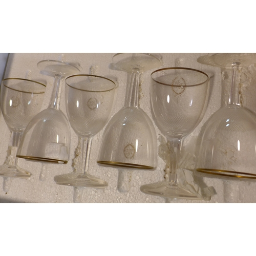 153 - Five boxes of Moser crystal glasses x 36 pieces...