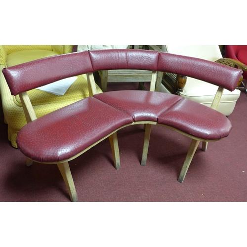 386 - A pair of vintage bistro corner benches...