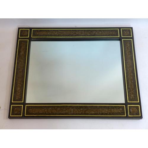 198 - A Venetian style mirror, 81 x 66cm...