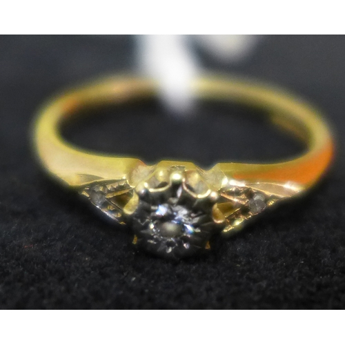 15 - A 9ct gold and diamond ring...