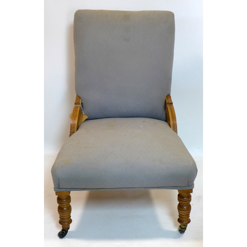 220 - A Victorian walnut parlour chair...