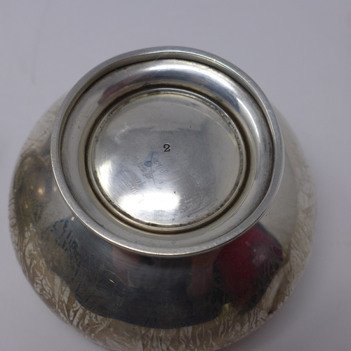 2 - A late 19th century silver three piece tea set by E. S. Barnsley & Co Ltd, 22oz...