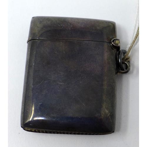 39 - A silver vesta case...
