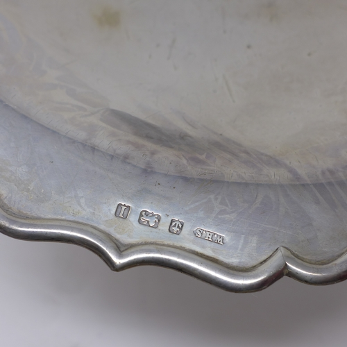 4 - An early 20th century silver tazza by William Henry Sparrow, Birmingham, 13oz...