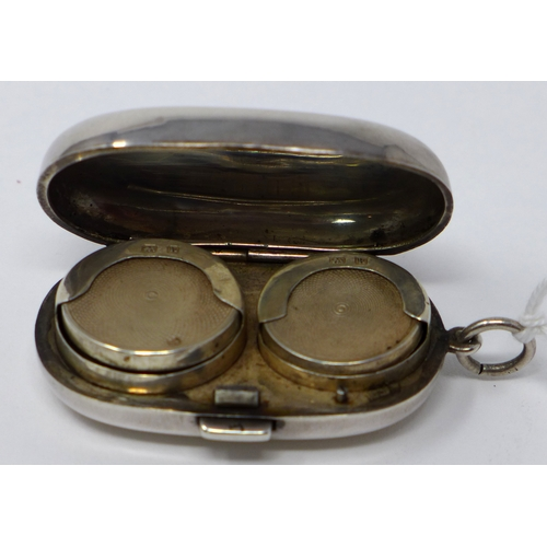 42 - A 19th century silver sovereign case with makers mark G.J.H...