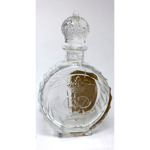 96 - A Webb Corbett crystal decanter for the coronation of George IV, H.25cm...