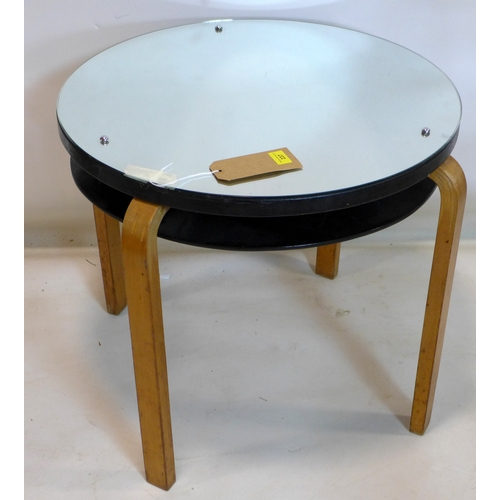 237 - An early 20th century Alvar Aalto table with mirrored top, H.57 D.69cm...
