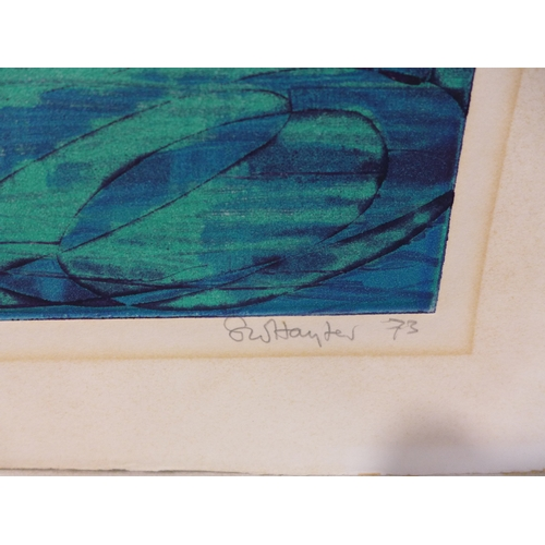 9 - Stanley William Hayter CBE (British, 1901-1988), 'Lake', aquatint, signed and dated '73 in pencil to...