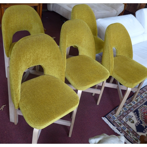 416 - A set of 10 contemporary dining chairs...