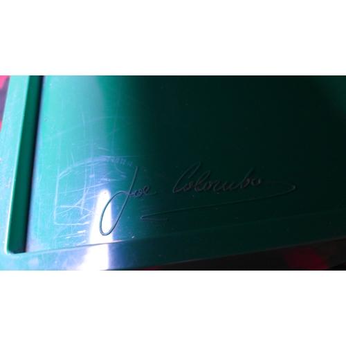 408 - A 1970's Joe Colombo green Boby Trolley for Bieffeplast, H.74 W.43 D.41cm...
