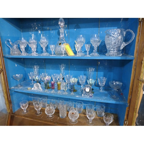 28 - A large collection of 20th century crystal, to include Doulton, Edinburgh, Webb & Corbett and Stuart...