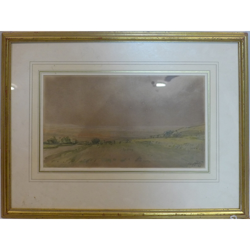 105 - Harry Morley (1881-1943), view of Norfolk, watercolour, signed lower right, 19 x 34cm...
