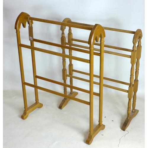 345 - Two 20th century towel rails...