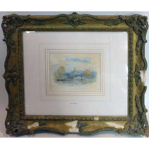 139 - Victoria Susanna Hine A.R.P.E (British, 1840-1926), 'St Albans', watercolour, signed and dated 1877 ...
