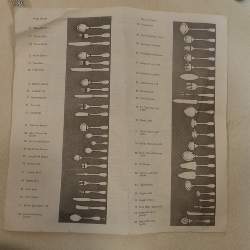 36 - A collection of Christofle silver plated flatware, to include knives, forks, serving spoons etc., wi...