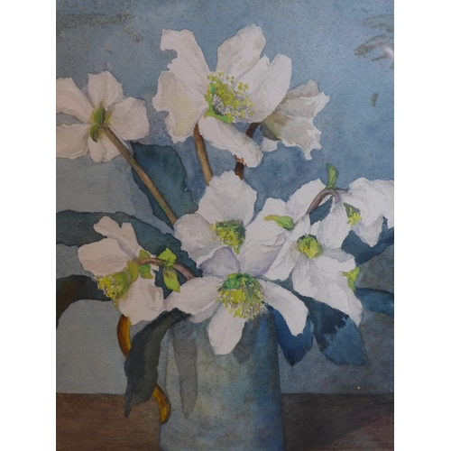 307 - A. M. Minter, Still life of flowers, signed lower right, framed and glazed, 23 x 18cm...