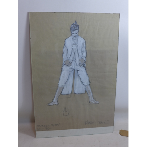 256 - Uwe Framenau, Costume drawing for 'Franz' from Schiller's play 'The Robbers', inscribed and dated '9...