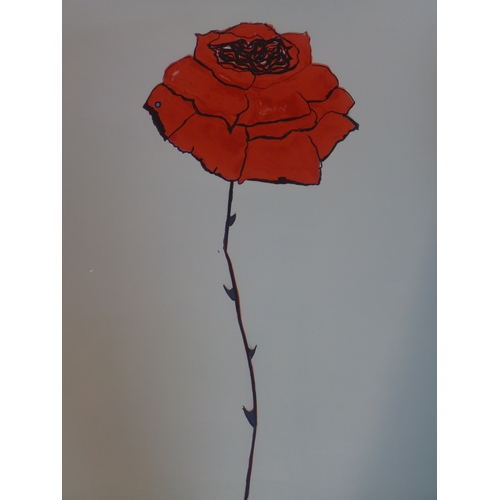 30 - Jo Self, British b.1956, 'vermilion rose', two limited edition prints signed and numbered 22/35 and ...