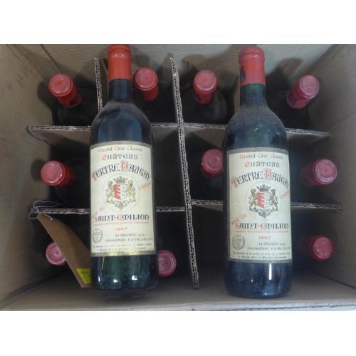 16 - Chateau Tertre Daugay, 1966, Saint-Emilion Grand Cru, France, 750ml, 12 bottles...
