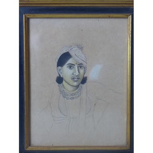 3 - 19th century Indian Jaipur school, 'Kanwar Narain Singh of Kanota', c.1850, portrait, watercolour an...