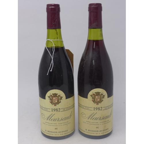 33 - Meursault, 1982, Grand Vins de Bourgogne, D. Buisson - Dupont, 750ml, 2 bottles...