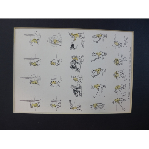 258 - Five printed golf cartoons, 16 x 11cm...