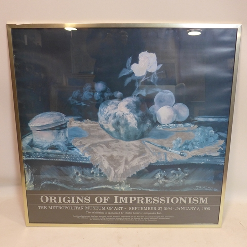 168 - An exhibition poster for 'Origins of Impressionism' at the Metropolitan Museum of Art, Septmber 1994...